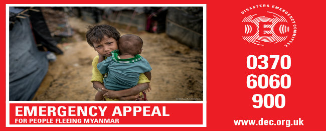 Disasters Emergency Committee (DEC) in Scotland launches emergency appeal for people fleeing Myanmar
