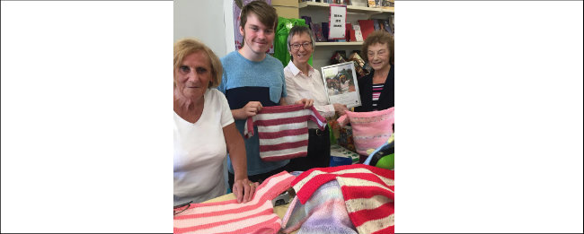 Helensburgh grandmother knits 500 jumpers for Oxfam