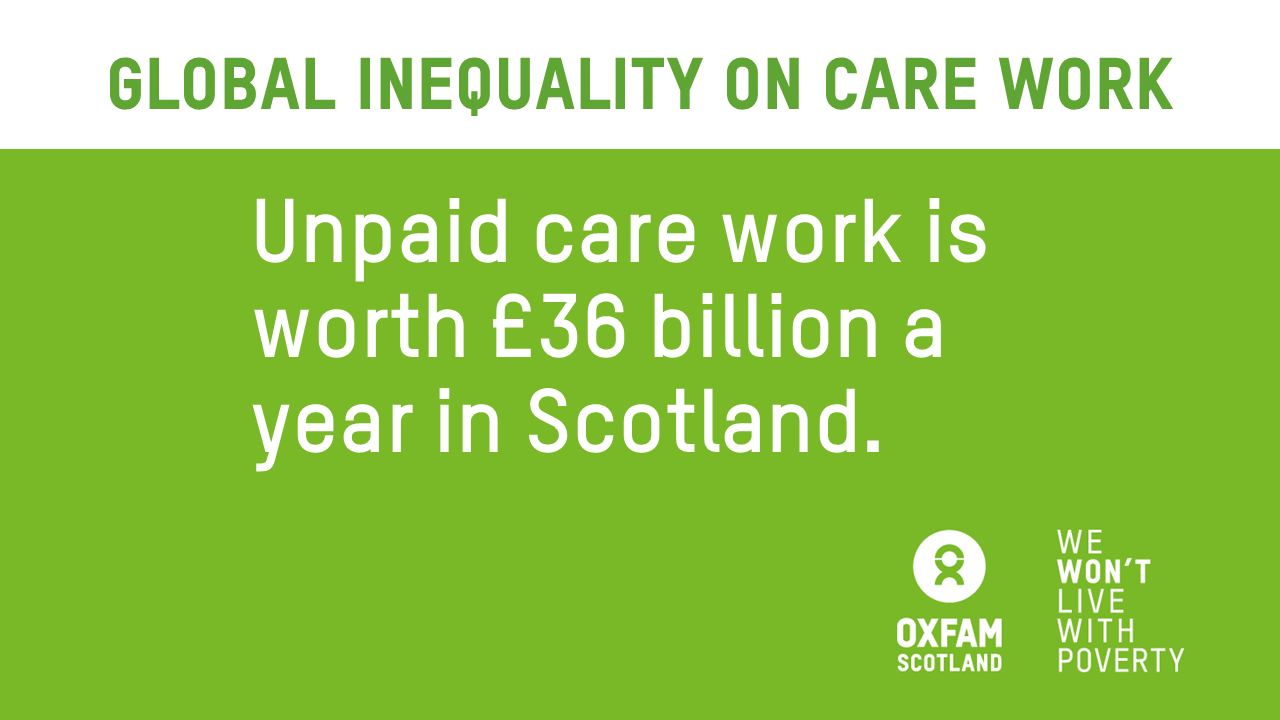 Unpaid care work worth £36bn in Scotland